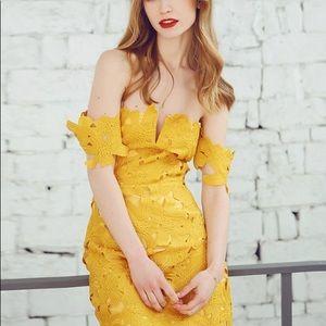 NWT Few Moda Mustard yellow Allison dress
